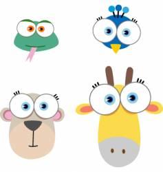 Animal eyes vector