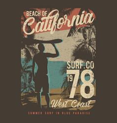Beach california surfing design surf vector