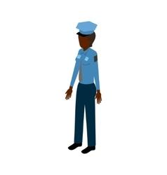Black isometric policewoman vector