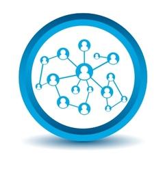 Blue social icon vector image