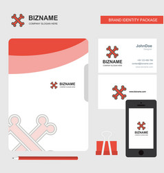 bones business logo file cover visiting card and vector image