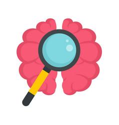 Brain dementia icon flat style vector