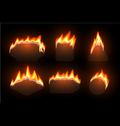 burning price tags realistic vector image