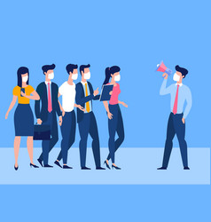 call to avoid crowded places vector image