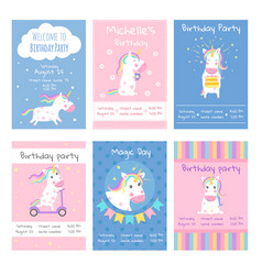 cards invitations design template cards with vector image