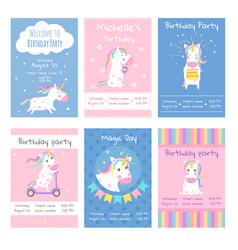 Cards invitations design template vector