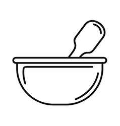 chemical bowl icon outline style vector image