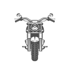 Chopper motorcycle front side isolated vector