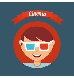 cinematographic hobby design vector image