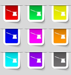 Coffee turk icon sign Set of multicolored modern vector image