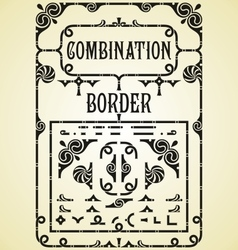 Combination border vector