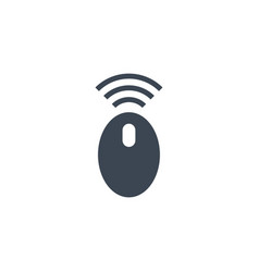 computer mouse related glyph icon vector image