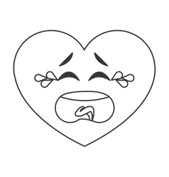 crying heart cartoon icon vector image