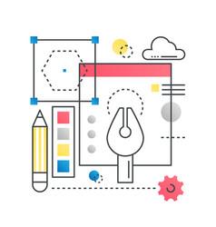 Design creative idea concept concept in vector