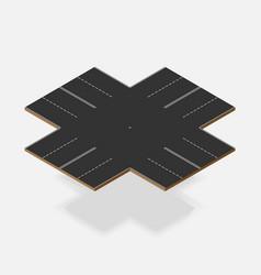 double line crossroad isometric element vector image