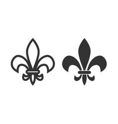 Fleur de lis icon design template isolated vector