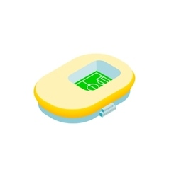 Footbal stadium isometric 3d icon vector image