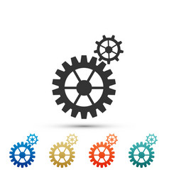 gear icon cogwheel gear settings sign cog symbol vector image