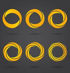 Golden zeros segmented logo signs vector