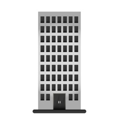Gray apartment building line sticker vector