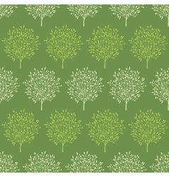 Green trees stripes seamless pattern background vector