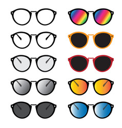 Group an glasses and sunglasses isolated on vector