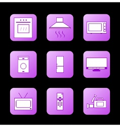 icon appliances vector image