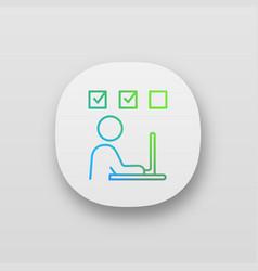 Interactive training app icon vector