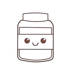 Kawaii jar cook food glass vector