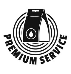 laundry service logo simple style vector image