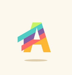 Letter a logo icon design template elements vector