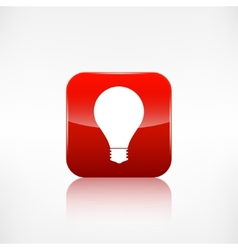 Light bulb icon Application button vector image