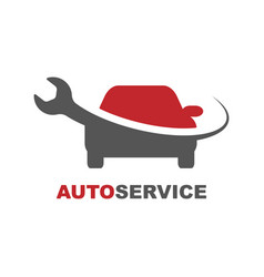 Logo for the nearest service sign for the fastest vector