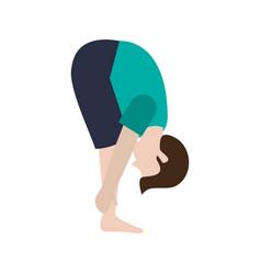 man practice yoga vector image