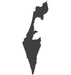 Map of israel split into regions vector