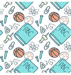 Math and chemistry stuff seamless pattern vector