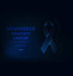 november prostate cancer awareness month banner vector image