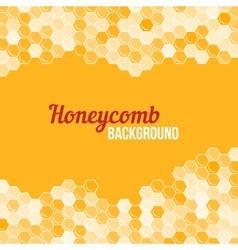 Orange honeycomb background vector image