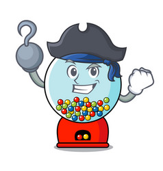 Pirate gumball machine character cartoon vector
