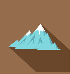 rocky mountains icon flat style vector image