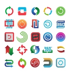 Rotate and 360 web icons set vector