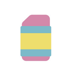 School eraser flat style icon vector