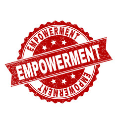 Scratched textured empowerment stamp seal vector