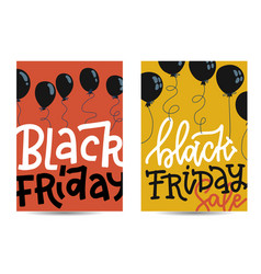 Set vertical banners with black friday concept vector