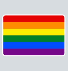 Sticker name tag lgbt rainbow flag vector