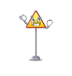 Successful no cycling character shaped a mascot vector