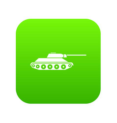 tank icon digital green vector image