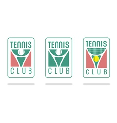Tennis club logo vector