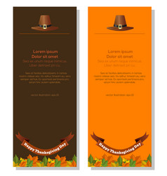 thanksgiving banners set vector image