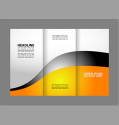 tri-fold brochure design and catalog concep vector image
